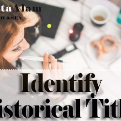 Identify Historical Titles for Search Engine Optimization.